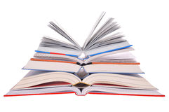 Open Books. Stack isolated on white background Stock Images
