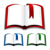 Open books with bookmark Stock Photography
