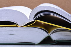 Open books closeup, learning concept Royalty Free Stock Photo
