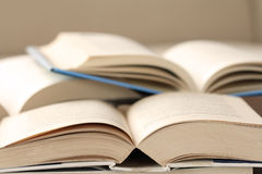 Open books closeup. Many open books closeup picture Stock Photography
