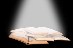 Open books. On dark background Royalty Free Stock Image