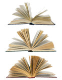 Open books isolated Stock Image