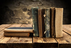 Open books line up Royalty Free Stock Photos