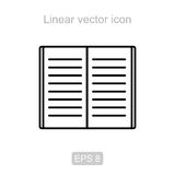 Open books. Linear vector icon. Stock Images