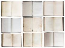 Open books set Stock Photography