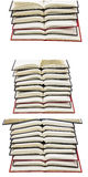 Open books stacked isolated background collage Royalty Free Stock Image