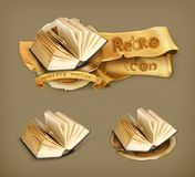 Open books vector icons Royalty Free Stock Image