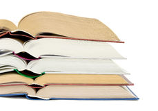 Open books on white background Stock Image