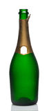 Open bottle of champagne Stock Images