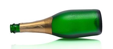 Open bottle of champagne Stock Image