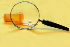 Opioid Crisis - Open Bottle of Prescription Painkillers Stock Images