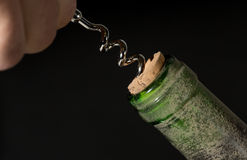Open a bottle of wine Royalty Free Stock Images