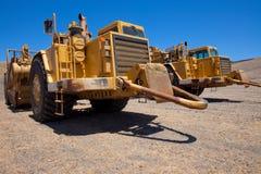 Open bowl scraper tractors Royalty Free Stock Images