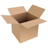 Open Box Stock Photo