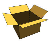 Open box. An open illustration cardboard box Stock Images