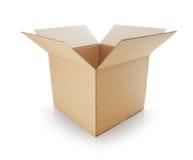 Open box. Cardboard box on white background Stock Photos