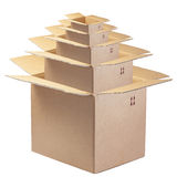 Open Box Boxes Matrioska Chinese Isolated Fragile Royalty Free Stock Photos