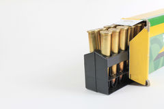 Open Box of Bullets Royalty Free Stock Photos