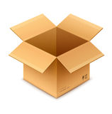 Open box cardboard package Royalty Free Stock Photos