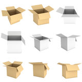 Open box 3d set Royalty Free Stock Image