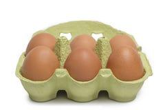 Open Box of Eggs Royalty Free Stock Photos