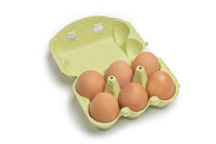 Open Box of Eggs Stock Images