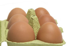 Open Box of Eggs Royalty Free Stock Images