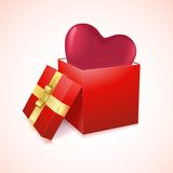 Open box with heart vector illustration Stock Images