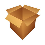 Open box illustration Stock Photography