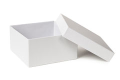 Open box isolated on a white. Background Stock Photos