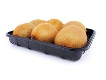 Open box of kiwi fruit Royalty Free Stock Photography