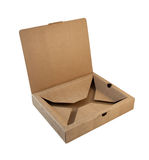 Open box made from corrugated cardboard Royalty Free Stock Photo