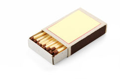 Open box of matches Stock Photography