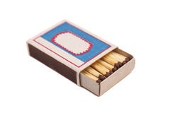 Open Box of Matches Stock Photo