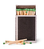 Open box of matches and several beside Royalty Free Stock Images