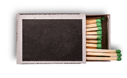 Open box of matches top view Stock Photos