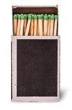 Open box of matches vertically Stock Photos
