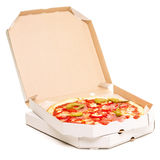 Open box with pizza. Stock Image