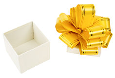 Open box with ribbon Royalty Free Stock Images