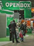 Open Box satellite digital equipment booth Stock Photography