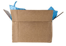 Open Box with Tissue Isolated Royalty Free Stock Photos