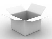 Open box on white background. Isolated 3D image Stock Images