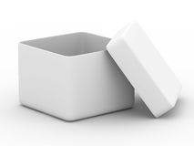 Open box on white background. Isolated 3D image Stock Photo