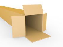 Open box on a white background Royalty Free Stock Images