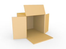 Open box on a white background Royalty Free Stock Photo