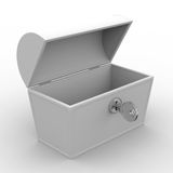 Open box on white background Stock Photos