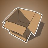 Open box with white outline. Cartoon vector Stock Photos