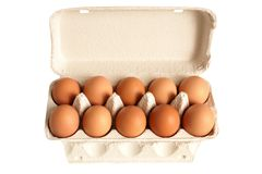 Open Box With Eggs Royalty Free Stock Photo