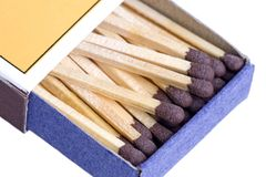 Open Box of Wooden Matches Stock Photography