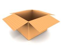 Open boxas royaltyfri illustrationer